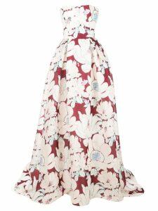 Carolina Herrera floral print gown - Red