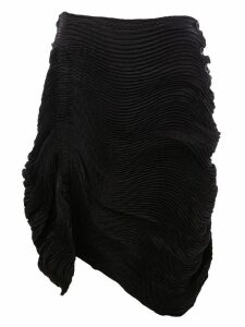Issey Miyake gathered pleat skirt - Black