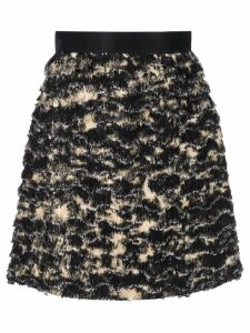 Proenza Schouler Printed Fil Coupe Skirt - Black