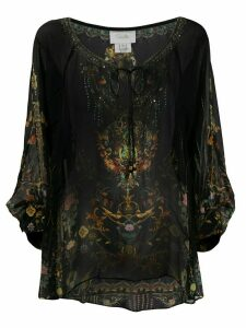 Camilla raglan sleeve blouse - Black