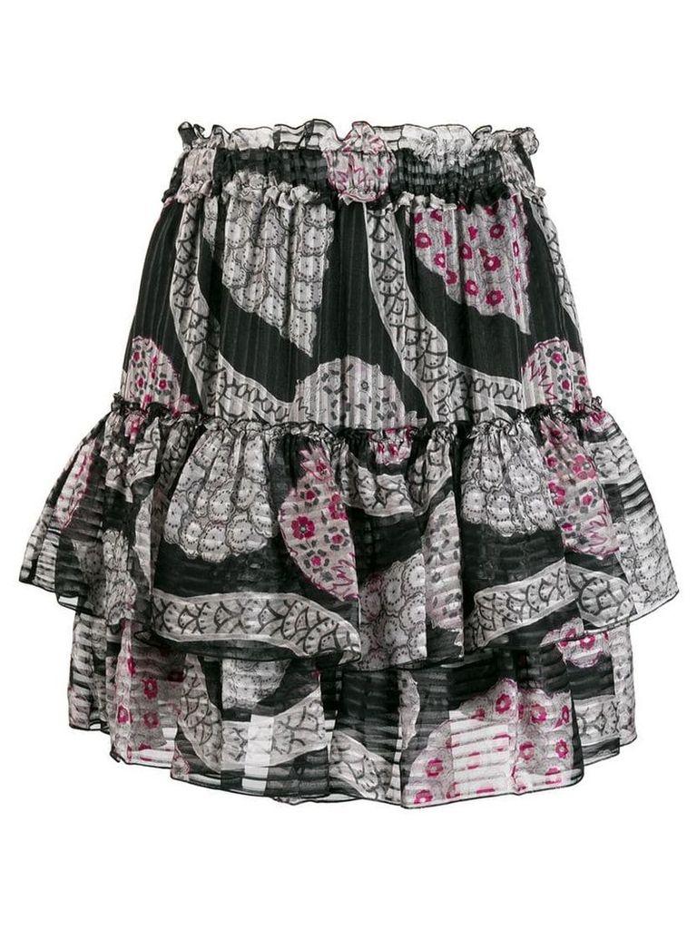 Isabel Marant ruffle tiered skirt - Black