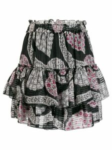 Isabel Marant ruffle tiered skirt - Black