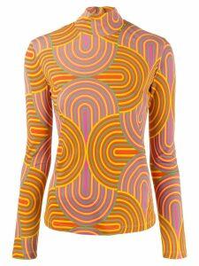 La Doublej x Mantero print sweater - Yellow