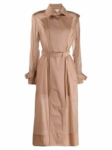 Sportmax sheer trench coat - Neutrals