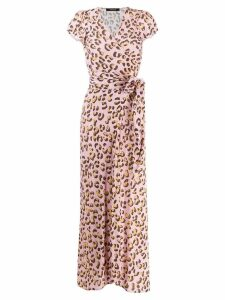 Andamane leopard print wrap dress - Pink