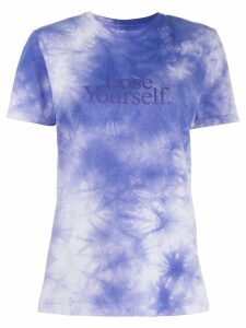 Paco Rabanne Love Yourself print T-shirt - Purple