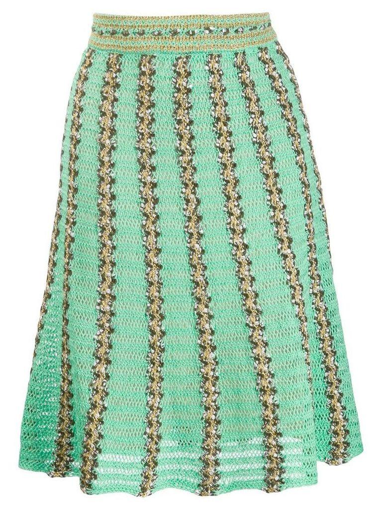 M Missoni knitted striped skirt - Green