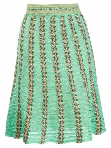 M Missoni knitted striped skirt - Green