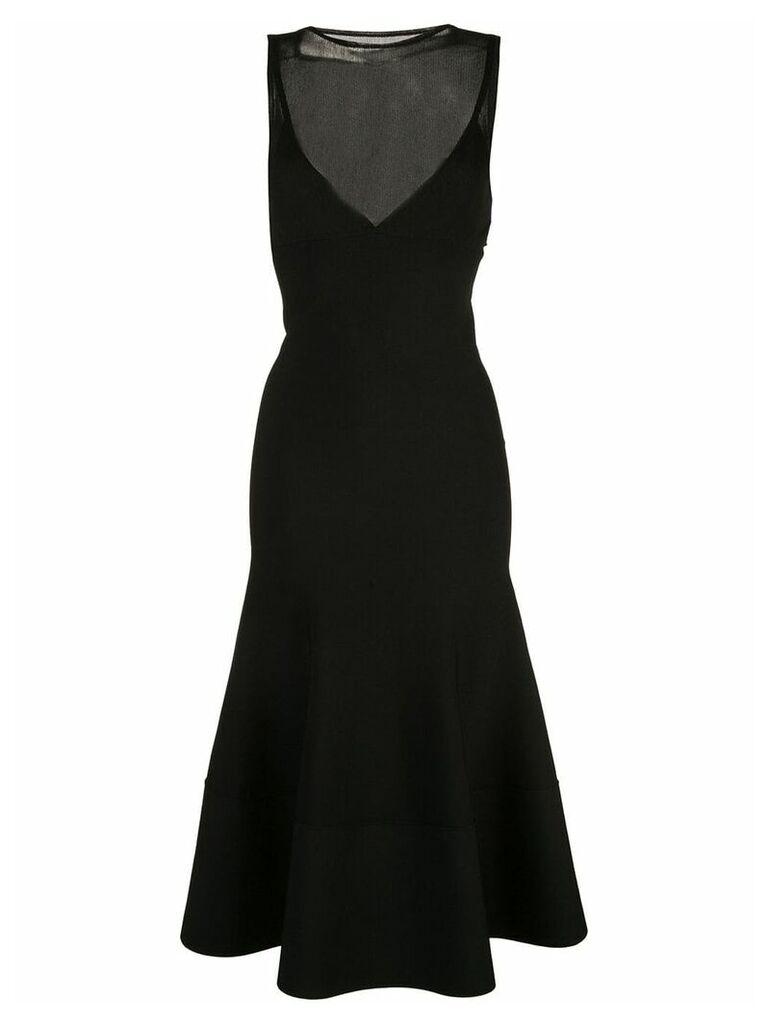 Proenza Schouler Matte Turtleneck Sleeveless Knit Dress - Black