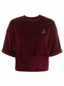 Just Cavalli cropped sweatshirt - Red
