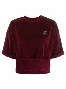 Just Cavalli cropped sweatshirt - Red