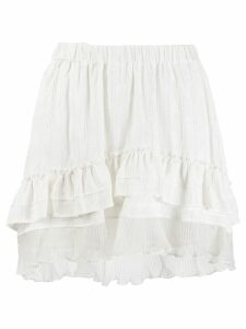 Isabel Marant short ruffled skirt - White