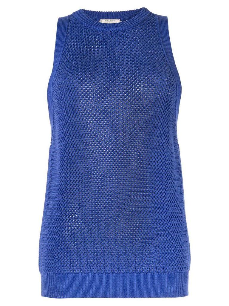 Nina Ricci sleeveless knitted jumper - Blue