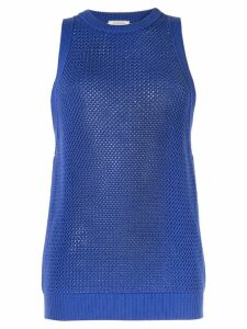 Nina Ricci sleeveless knitted jumper - Blue