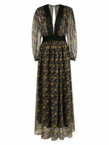 À La Garçonne long floral print dress - Multicolour