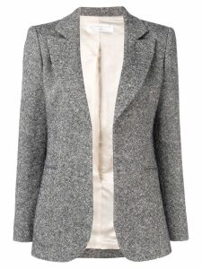 Victoria Beckham single breasted fitted jacket - Grey