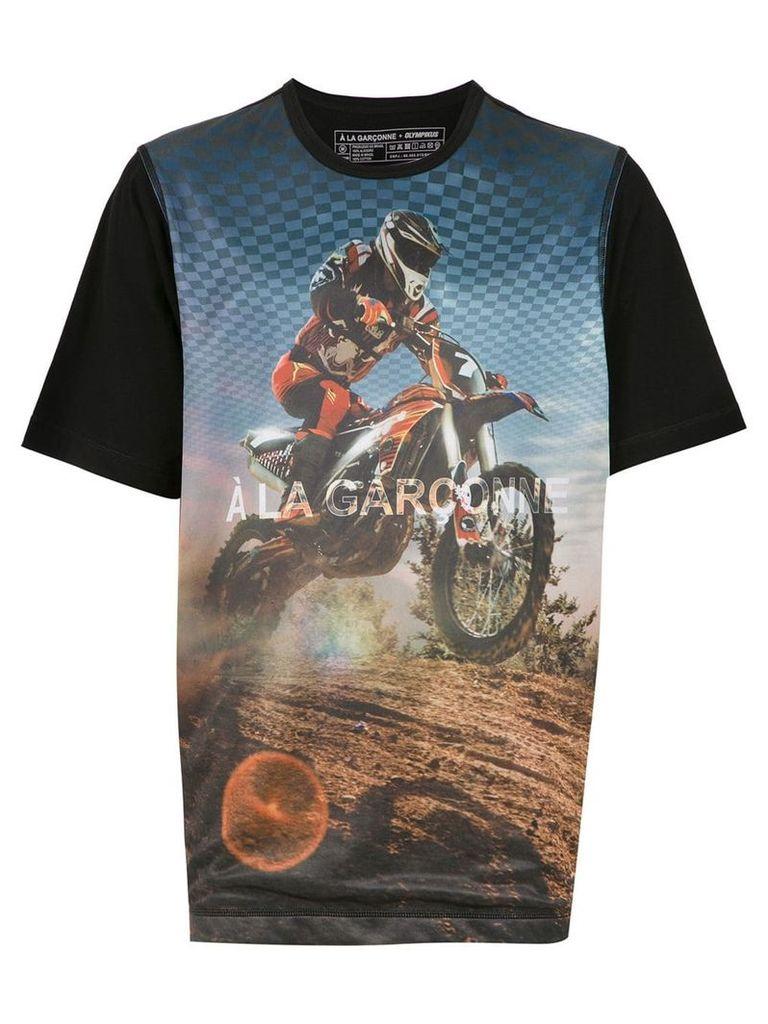 À La Garçonne À LA GARÇONNE + OLYMPIKUS MOTOCROSS t-shirt - Black