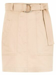 Gloria Coelho belted skirt - Neutrals