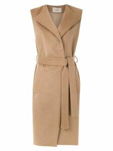 Egrey wool belted waistcoat - Neutrals