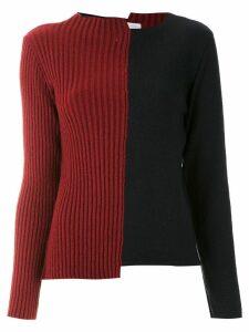 Mara Mac color block asymmetric sweater - Blue