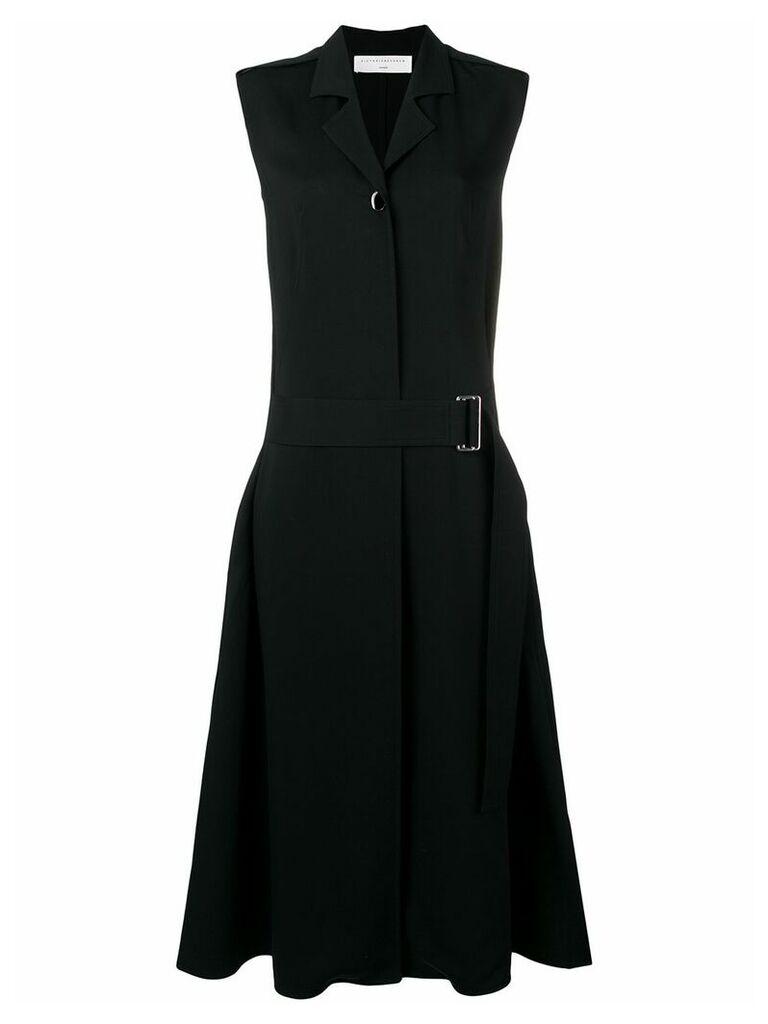 Victoria Beckham sleeveless belted midi dress - Black