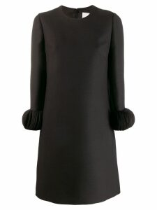 Valentino ornamental sleeve dress - 0no BLACK