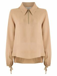 Egrey zip detail shirt - Neutrals