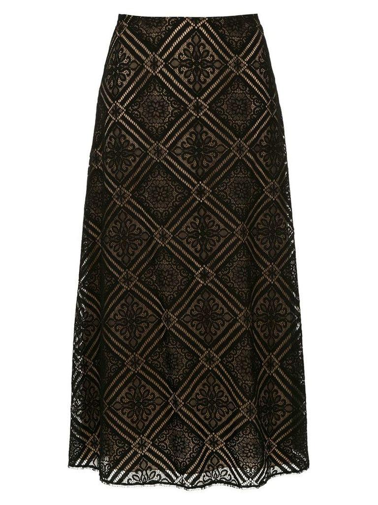 Nk lace midi skirt - Black