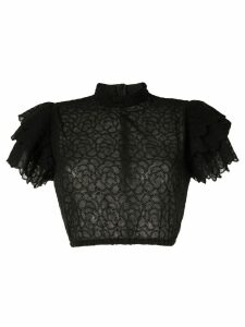 Sir. Florrié ruffle top - Black