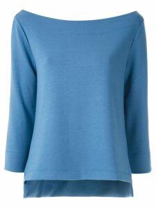Gloria Coelho boat neck blouse - Blue