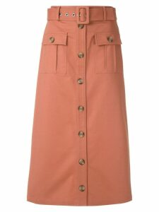 Nk pockets midi skirt - Brown