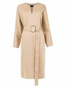 Gloria Coelho belted midi dress - Neutrals