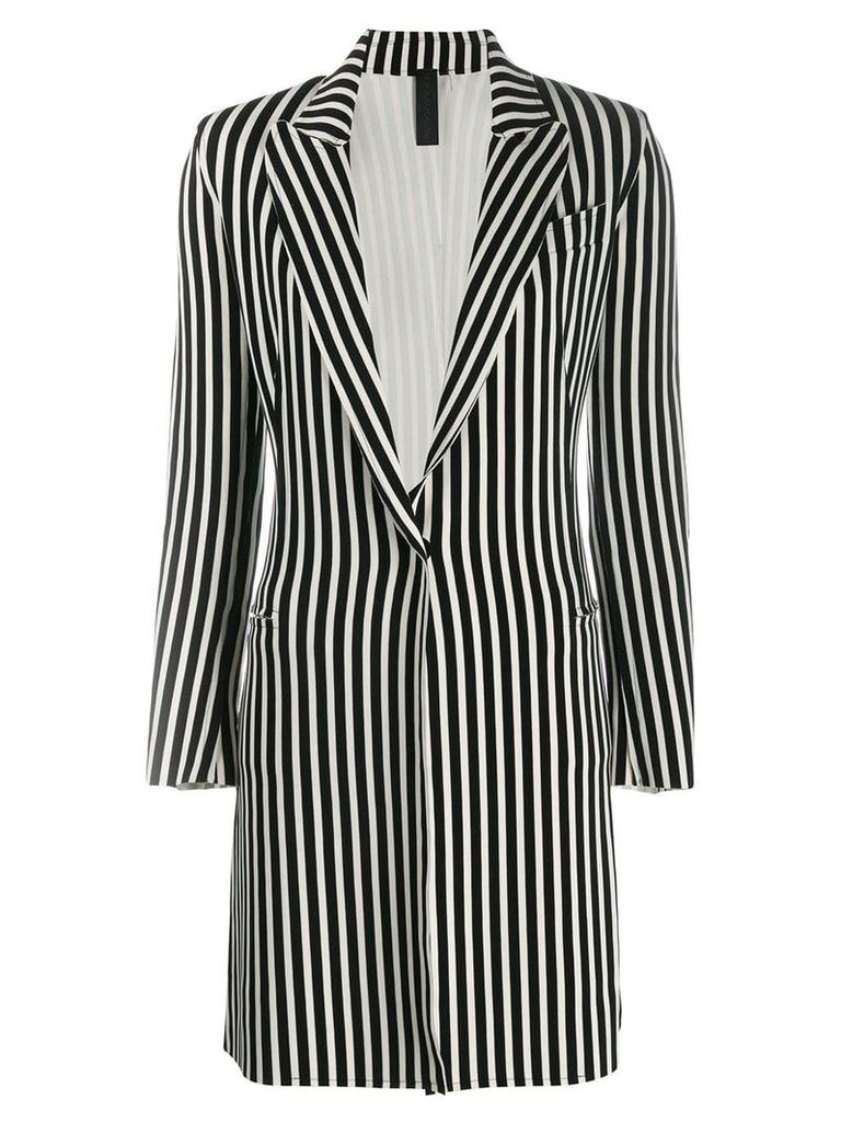 Norma Kamali striped blazer - White