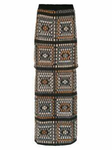 Cecilia Prado Fatima long skirt - Brown
