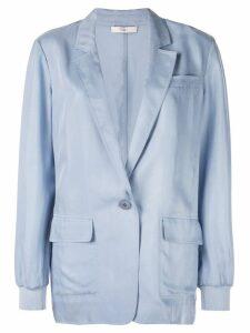 Tibi Cupro soft blazer - Blue