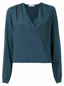 Egrey silk blouse - Blue