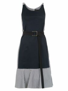 Gloria Coelho belted panelled dress - Blue