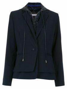 Mara Mac hooded layered blazer - Blue