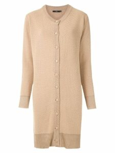 Magrella long-line cardigan - Neutrals