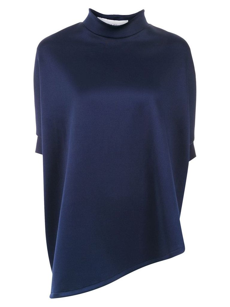 Gloria Coelho asymmetric blouse - Blue