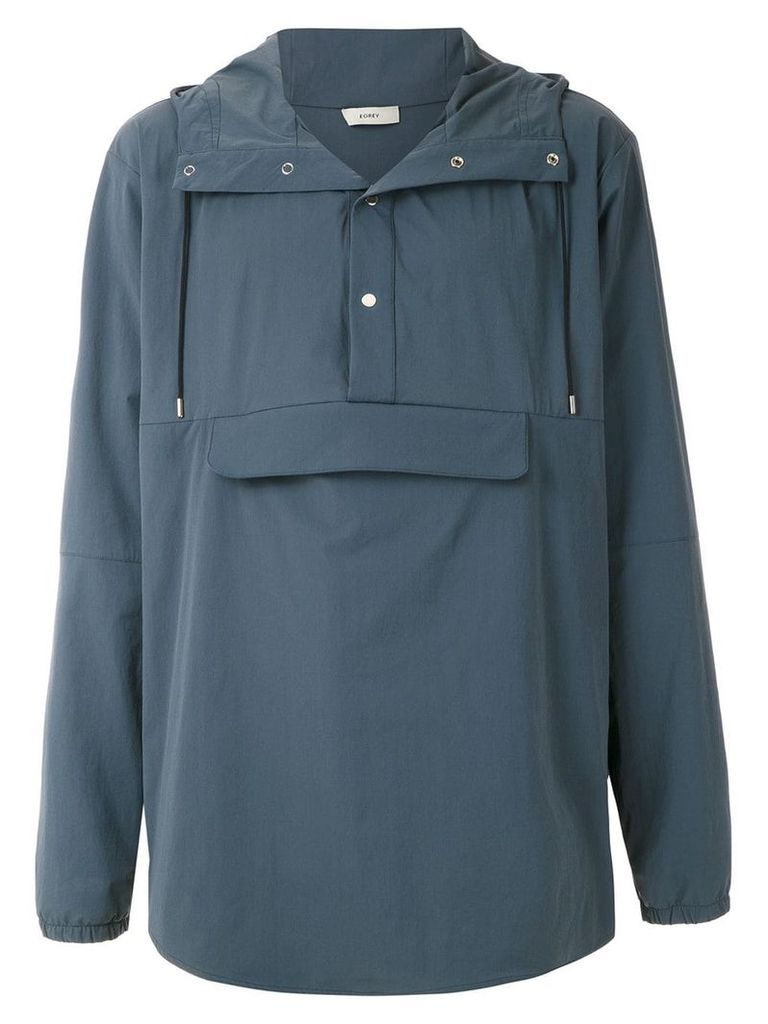 Egrey front pocket parka - Blue