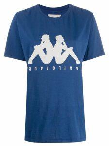 Paura x Kappa logo printed T-shirt - Blue