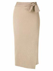 Magrella Pareo midi skirt - Neutrals