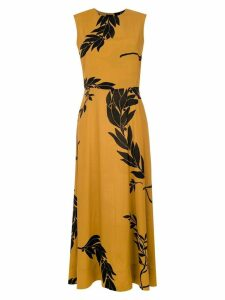 Osklen printed long dress - Yellow