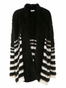 Mara Mac striped knit cardi-coat - Black