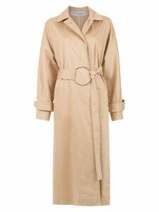 Gloria Coelho belted trench coat - Neutrals