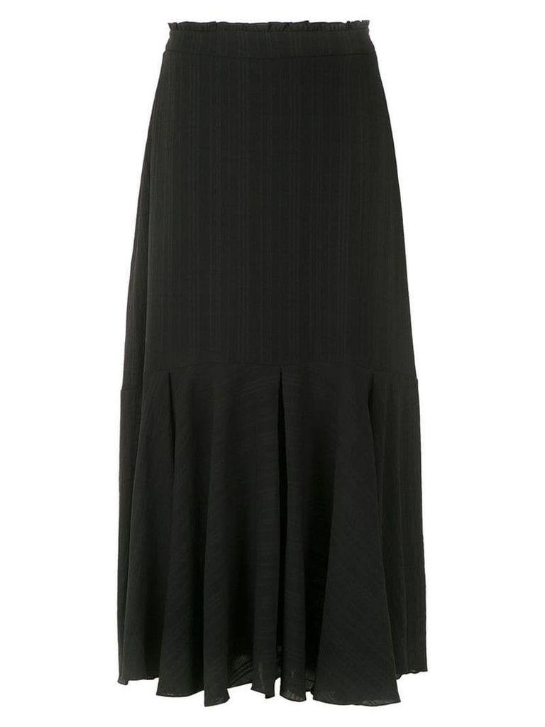 Magrella pleated midi skirt - Black