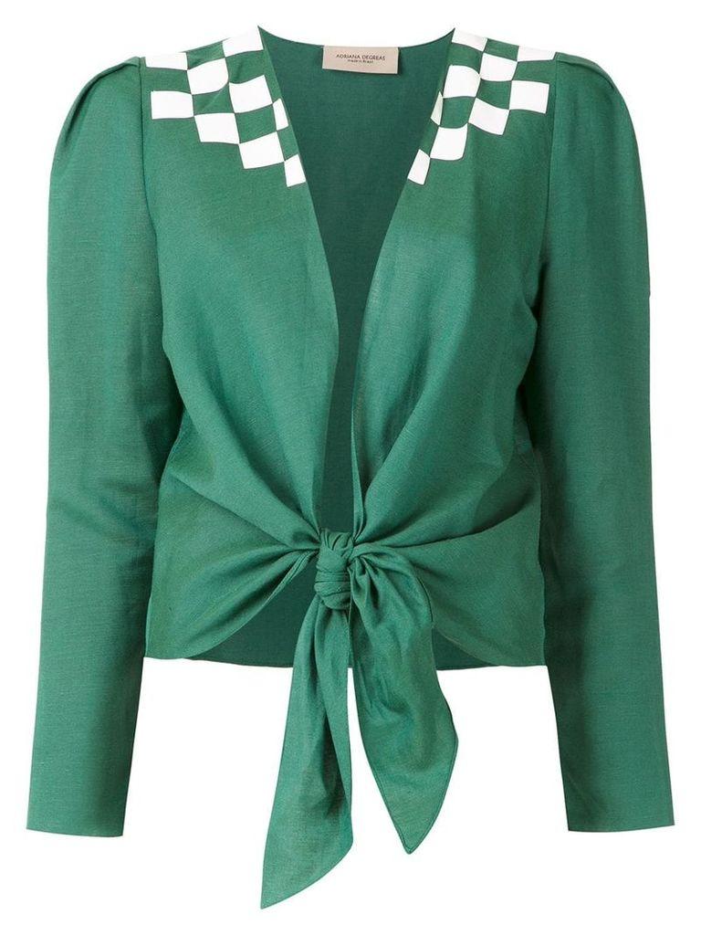 Adriana Degreas tie Wimblendon shirt - Green
