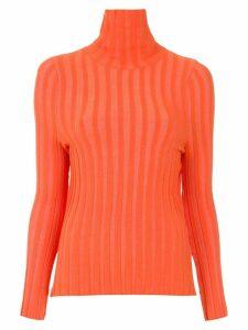 Gloria Coelho high neck knitted top - Orange