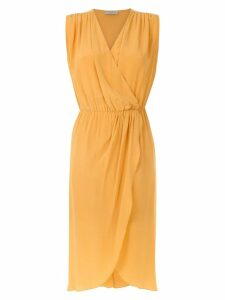 Egrey silk wrap dress - Yellow